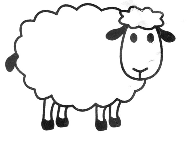 Sweet image with regard to sheep template printable