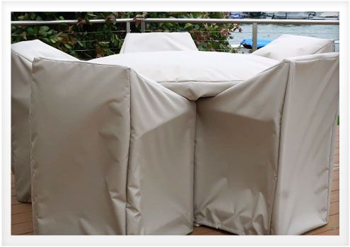 Patio furniture can be an investment. Protect it from the weather & keep it looking good year after year with DIY Patio Furniture Covers.