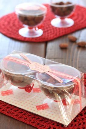 「バレンタインラッピング アマンド・ショコラのラッピング」お菓子教室SweetRibbonが提案する簡単かわいいお菓子ラッピング | お菓子・パンのレシピや作り方【corecle*コレクル】