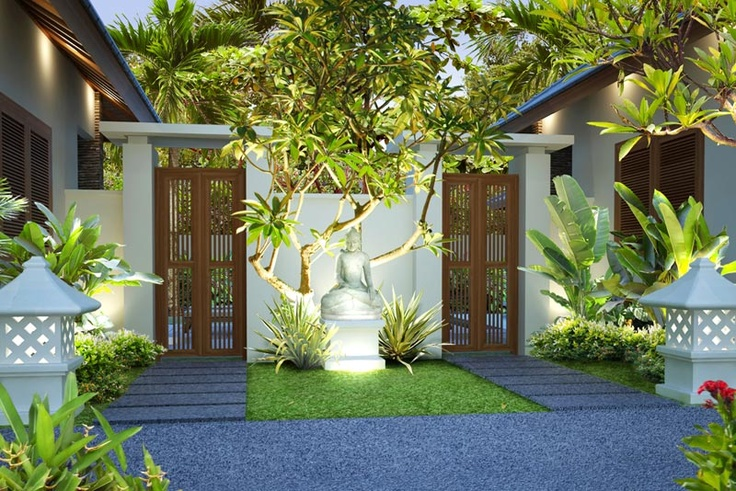 Bali property - entrance