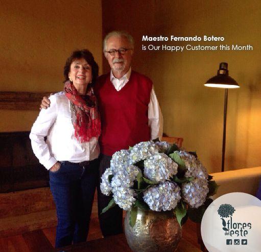 Maestro Fernando Botero with Our Flowers. #Hydrangeas