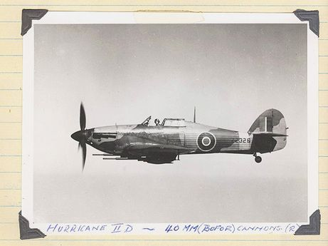 The Hurricane II-D, flown by Jim Ashworth of RAF 20 Squadron, based in India.