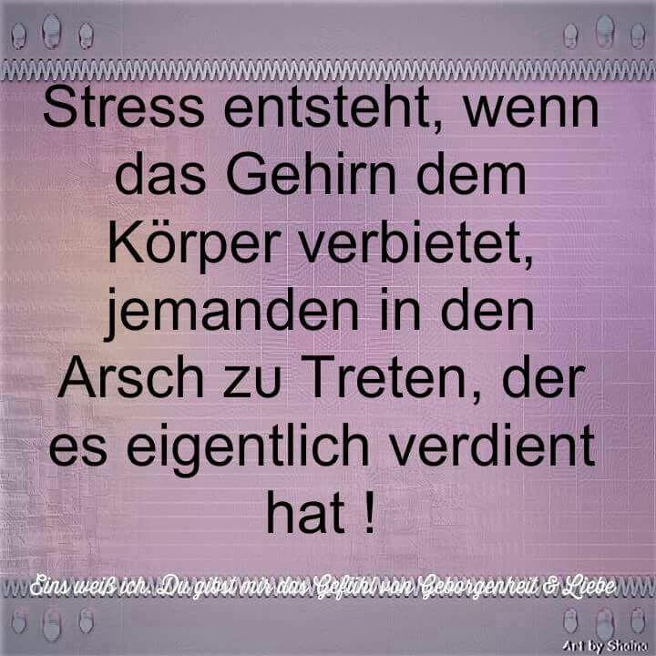 Stress entsteht...haha
