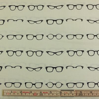 RB Geeky Chic Glasses Cream 1/2 METRE