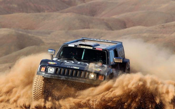 Hummer in Desert Rally