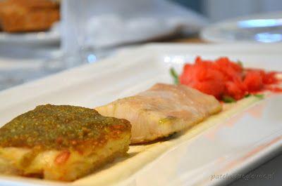Strugeon, celery gratin, tomato sorbet & apple mousse (Signature Restaurant, Warsaw, Poland).