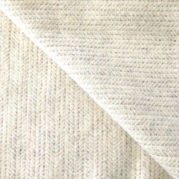 Soft Grey Texture Felted Wool Fabric / One Fat by quiltingacres, $11.00