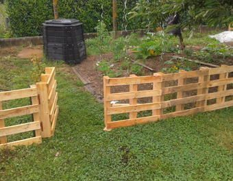 Barriere potager jardin palette barri re activit jardin for Barriere jardin