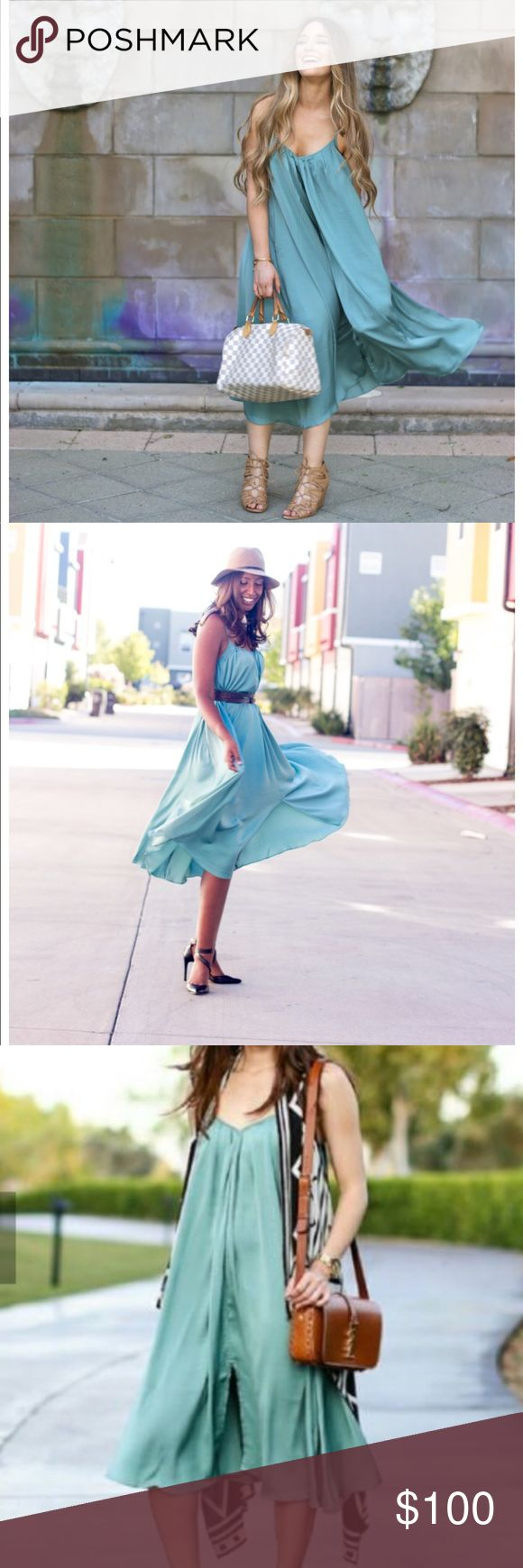 Banana Republic mint green trapeze dress A blogger favorite!  Endless possibilities with this dress: belt it or wear it unbelted, dress it up or dress it down, it can even work as a maternity dress! Banana Republic Dresses