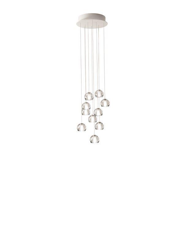 Raffinatissima lampada Fabbian a sospensione con diffusori in vetro cristallo trasparente. Perfetta in ogni ambiente, in offerta a 1.960,22€. #fabbian #design #lampadario #lampadaasospensione #cristallo #arredamento #illuminazione #chandelier #interiordesign #suspensionchandelier #lighting #crystal