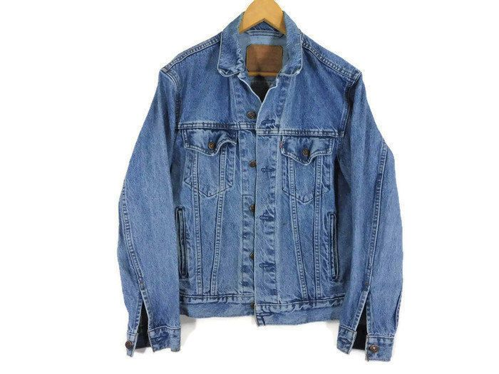 Vintage Levis Trucker Jacket - Medium - Jean Jacket - 90s Clothing - 90s Grunge - Classic Levis Jacket - Blue Denim - Mens Jean Jacket - by BLACKMAGIKA on Etsy