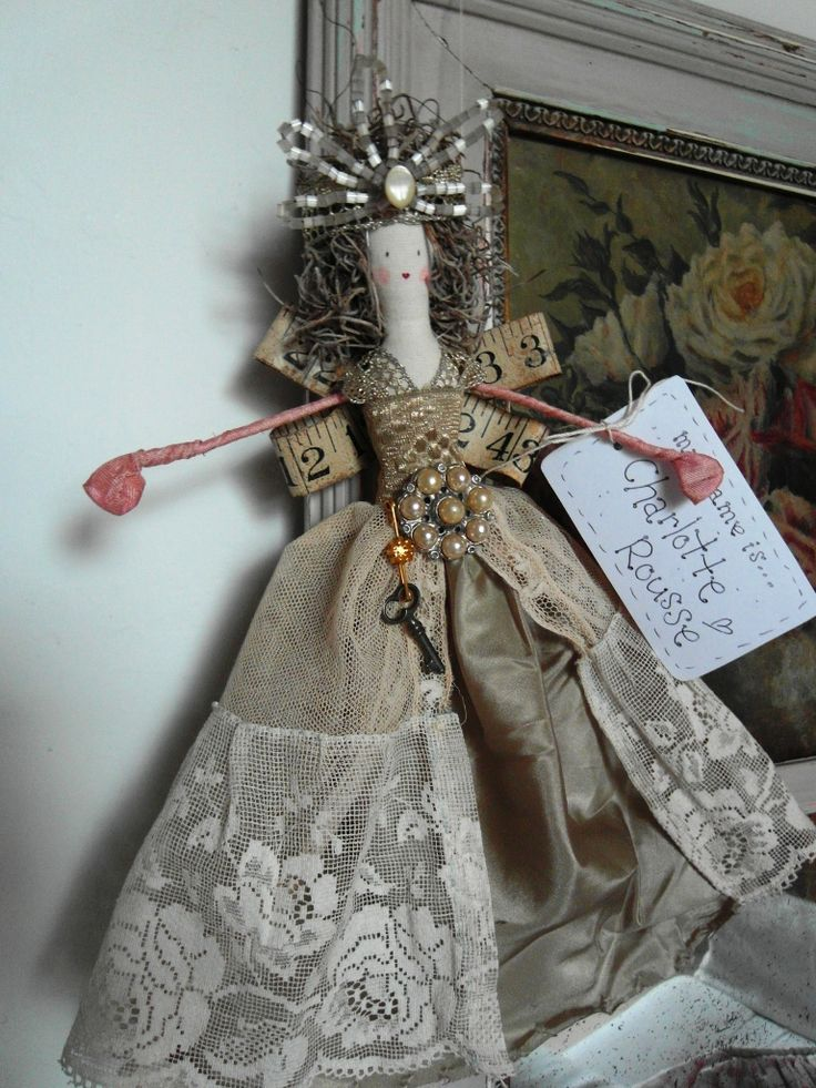 Handmade christmas fairy doll holidays pinterest