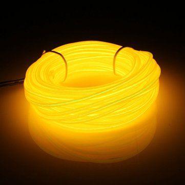 Ideal M EL Led Flexible Soft Tube Wire Neon Glow Car Rope Strip Light Xmas Decor DC