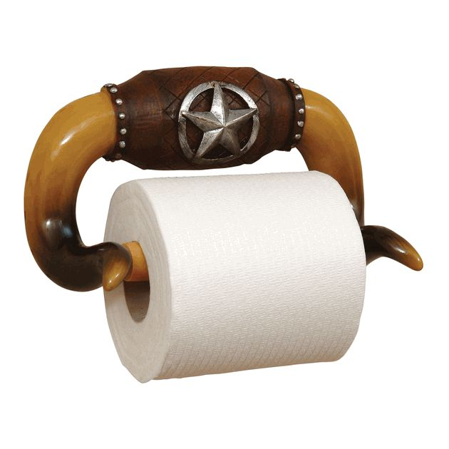 Longhorn Toilet Paper Holder