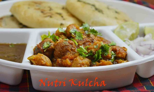 Spicy & Tangy Nutri Kulcha Recipe / How to make nutri gravy  Aaj kuch chatpata ho jaye #nutri #kulcha #delish #streetfood #yummy #spicy #soyanuggets Recipe at : www.annapurnaz.in
