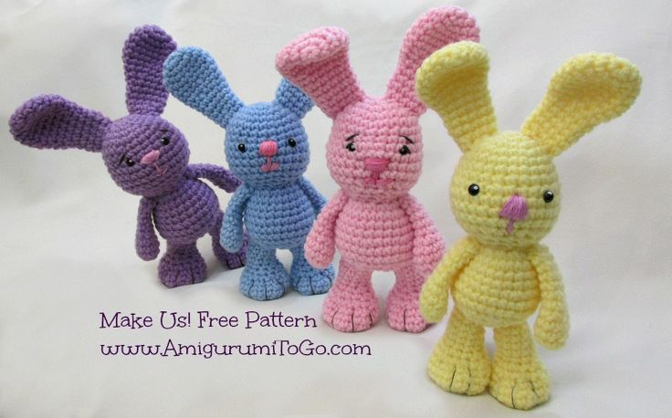 Amigurumi To Go Free Patterns : Little Bigfoot Bunny Revised 2014 Amigurumi Video Tutorial ...