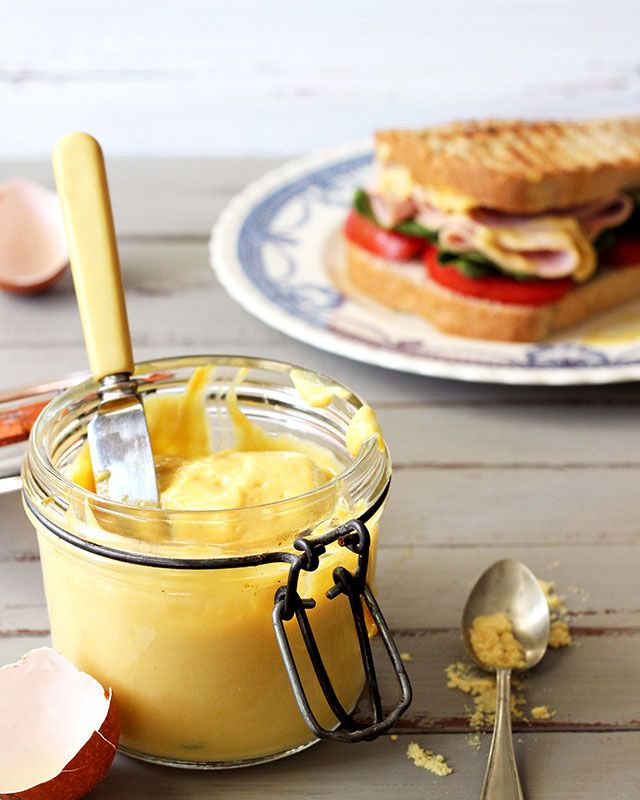 Old-fashioned mustard gran's way – with real eggs, sugar and vinegar.
