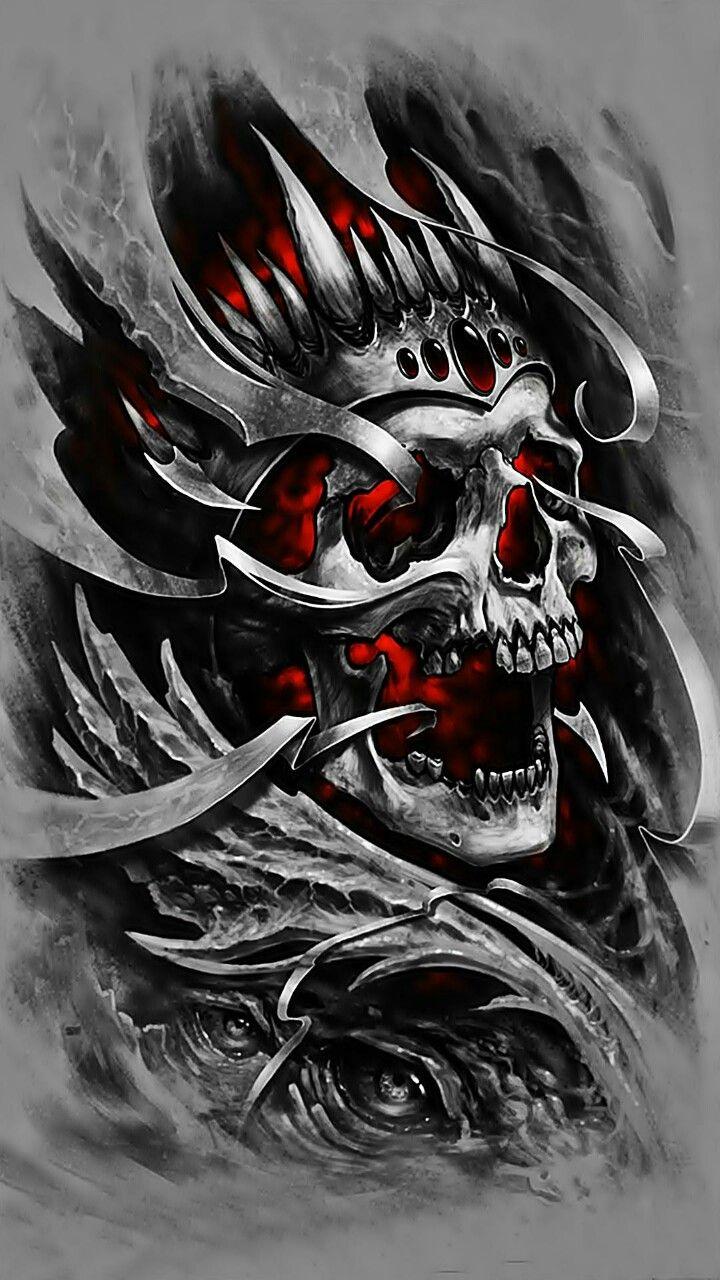 Pin by Ken on Skulls Skull tattoo design