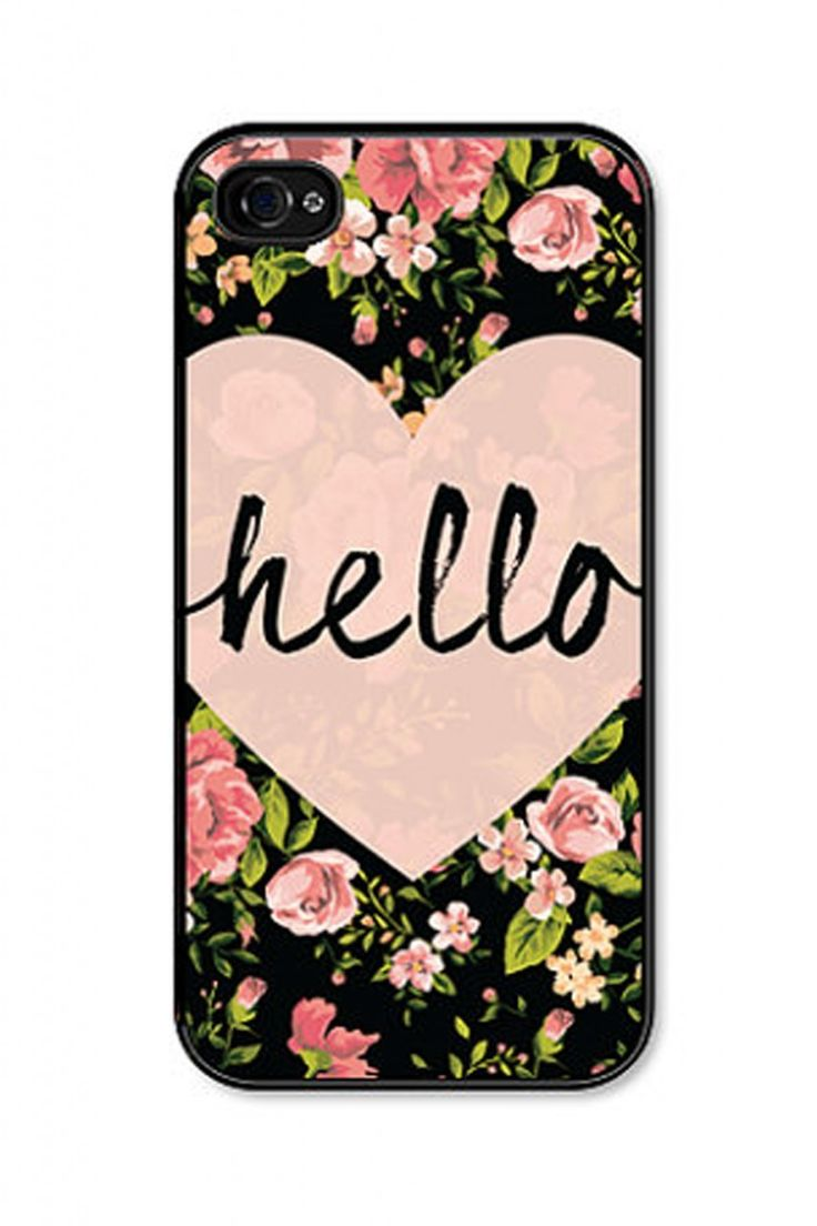 Our Hello Heart phone case available for both your iPhone 4 and iPhone 5. Just in time for valentines day!