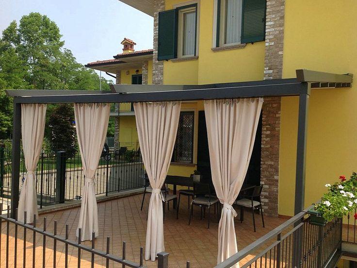 Kültéri kerti terasz pergola erkély függöny ötletek