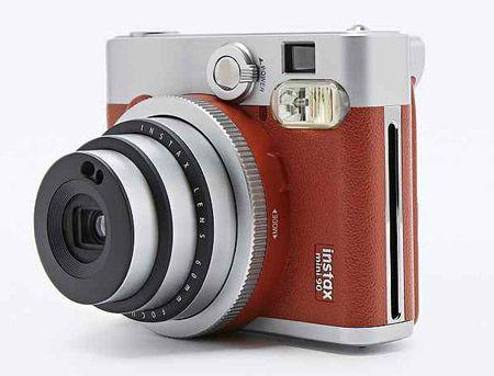 Retro Fujifilm Instax Mini 90 camera gets a brown leather finish