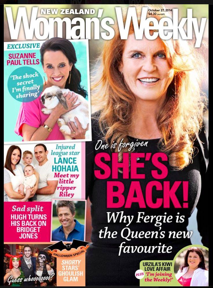 Sarah Ferguson Woman's Weekly Magazine [New Zealand] (27 October 2014)