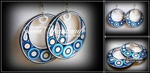 Quilling Earrings - Shades of Blue http://sweetiehandmade.blogspot.ro https://www.facebook.com/SweetHandmade.Creations