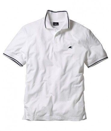 Tricouri ieftine: Tricou barbati polo alb bpc