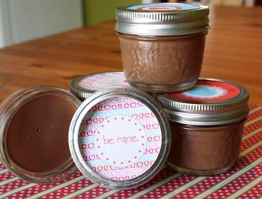Simple Paleo Chocolate Pudding; Festive school lunch packaging and it's vegan  nut-free too!