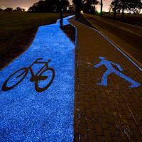 Polandia Membangun Jalur Sepeda Bercahaya Tenaga Matahari