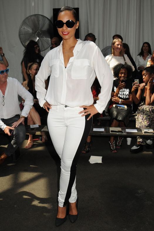 Знаменитости на Неделе моды в Нью-Йорке: Алиша Киз