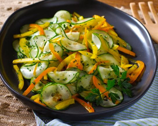 Fresh and Light Cucumber Salad