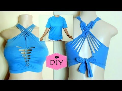 DIY - TOP CROPPED COM UMA CAMISETA - YouTube