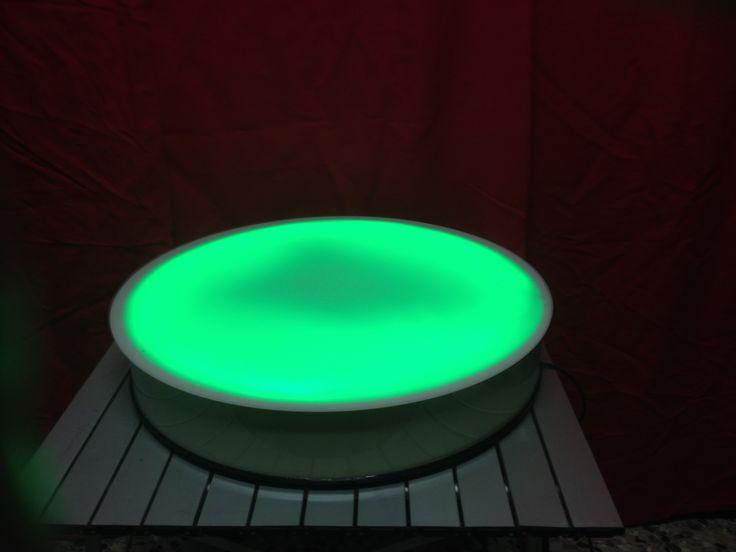 Tavolo luminoso per bolle di sapone con telecomando wireless diametro 62 cm