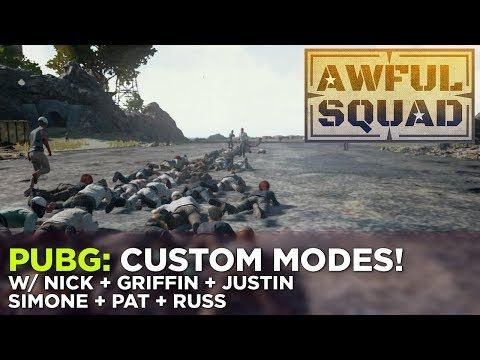 PUBG: Custom Modes w/ Nick, Griffin, Justin, Simone, Pat & Russ – AWFUL SQUAD https://www.youtube.com/watch?v=7er7EQYyxYw#utm_sguid=149300,30e2124b-41a8-f598-6167-331a492311bc