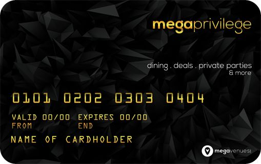 """Mega Venues Launches """"Mega Privilege - Discount Shopping Card """" Which Offer Dining, Deals and Parties From Our Partner Locations. To Know More About Our Discount Card And Pricing Structure Please Visit Our Website."""