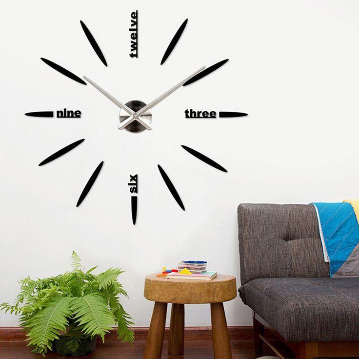 Lulu Decor Black Drop Wall Clock : Best ideas about mirror wall clock on big