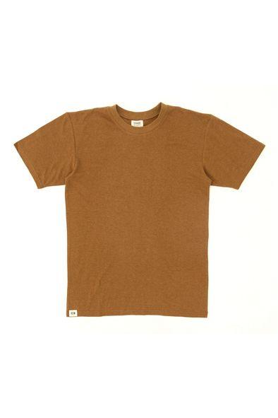 RCM CLOTHING / T-SHIRT BASIC   BRONZE BROWN  Sustainable Hemp Wear, 55% hemp 45% organic cotton jersey http://www.rcm-clothing.com/