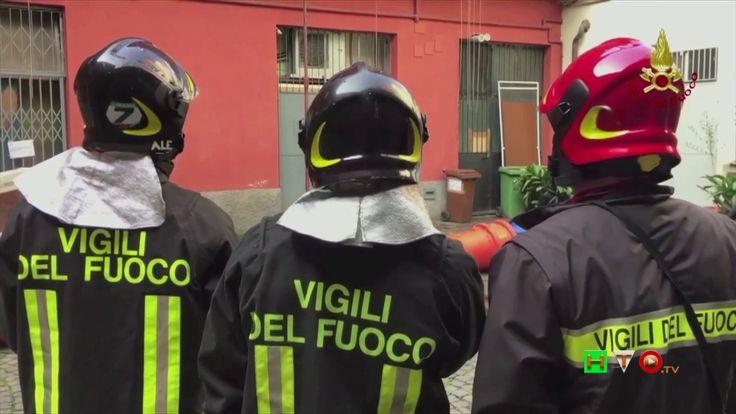 Vigili del Fuoco - Milano - 50 famiglie evacuate per Incendio palazzina ...