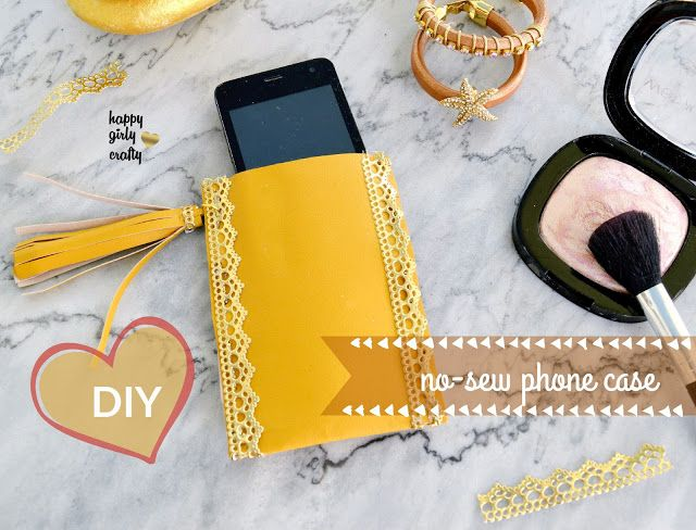 Faux leather and tassel smartphone case DIY