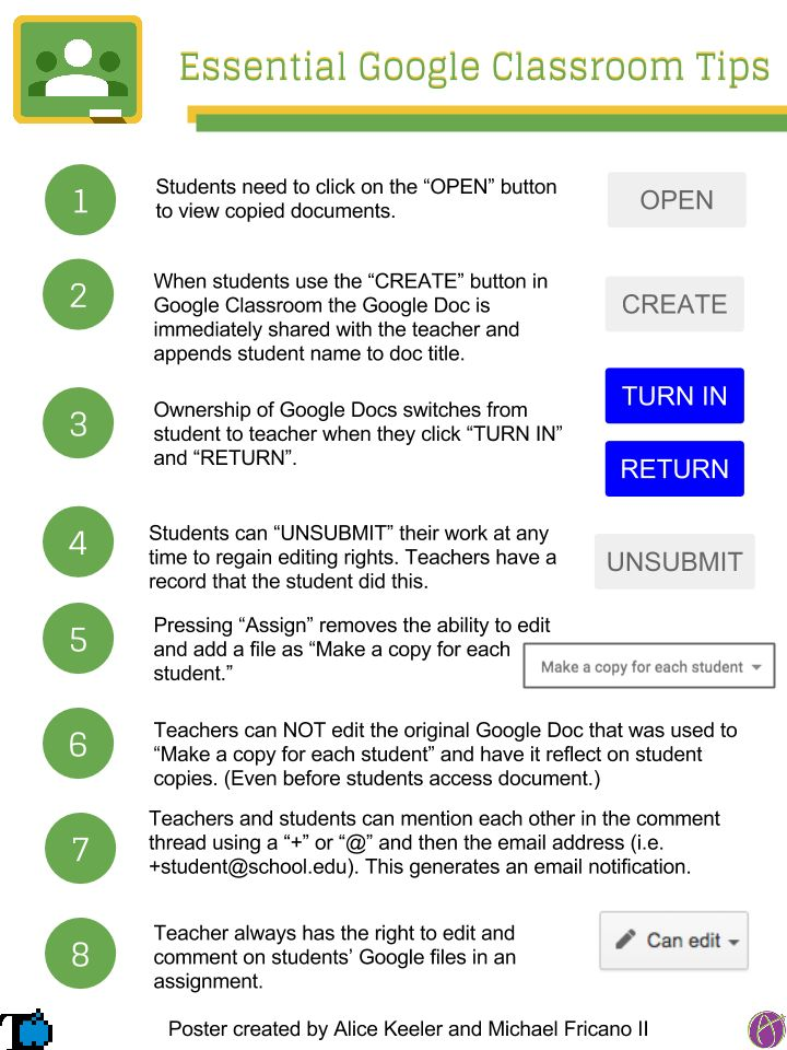 8 Essential Google Classroom Tips for Teachers by Alice Keeler and Michael Frianco