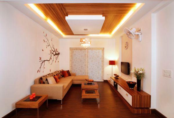 led deckenbeleuchtung wohnzimmer holz möbel deckenverkleidung