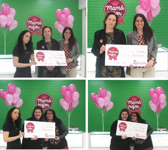 Naiara, Nuria y sus mamás fueron las ganadoras de los dos cheques valorados en 100 euros y 50, respectivamente.