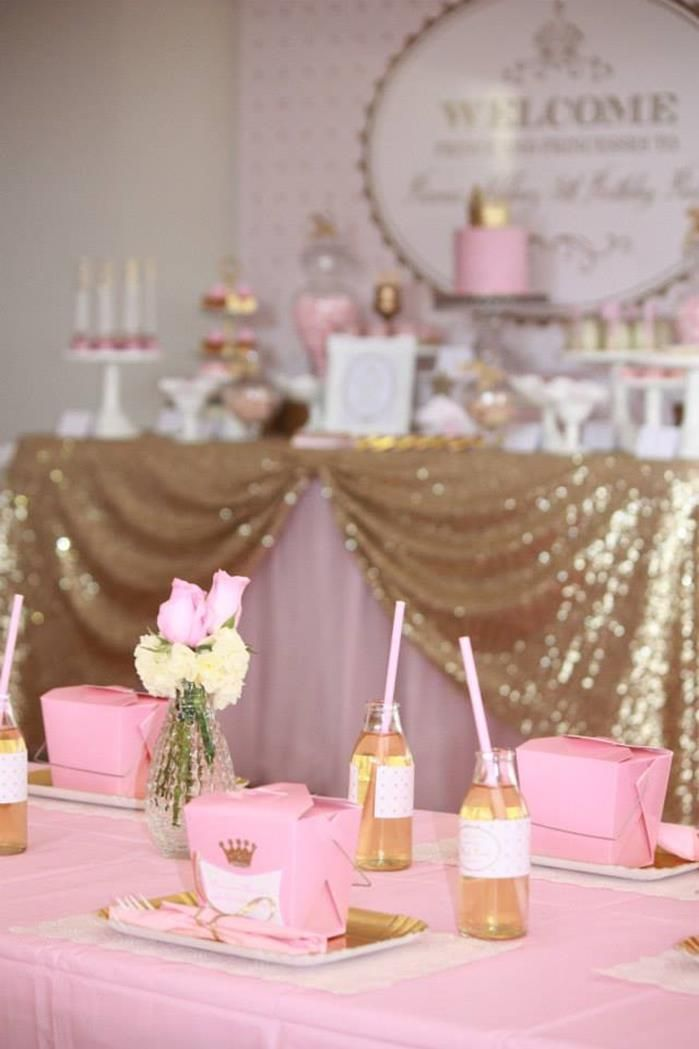 Pink and Gold Princess Party So Many Really Cute Ideas via Kara's Party Ideas KarasPartyIdeas.com #RoyalPrincess #Party #Ideas #Supplies (9)...