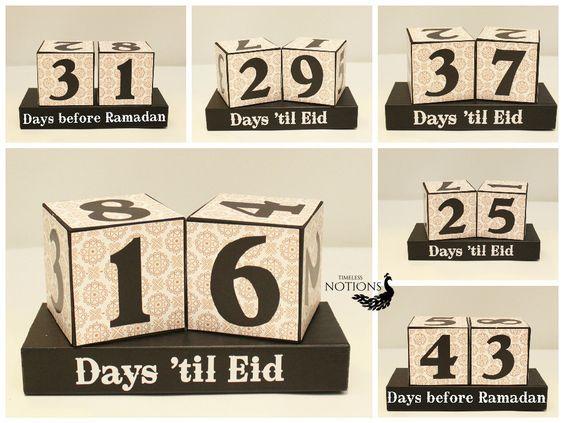 Countdown to Ramadan - Days 'til Eid Wooden Display - Eid ...