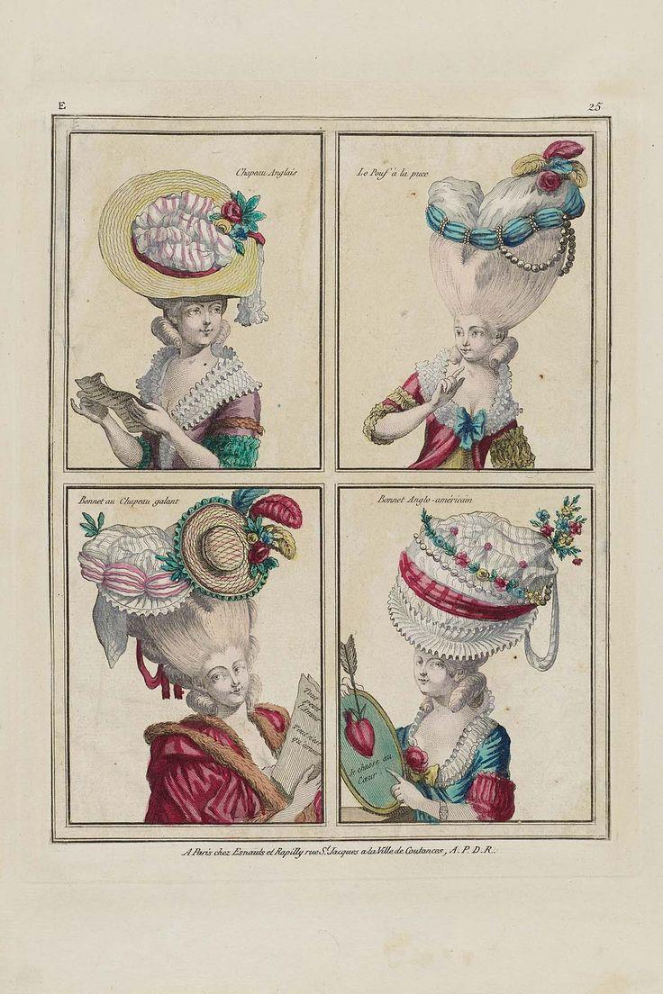 Chapeau Anglais, Le Pouf à la puce, Bonnet au Chapeau galant, Bonnet anglo-américain