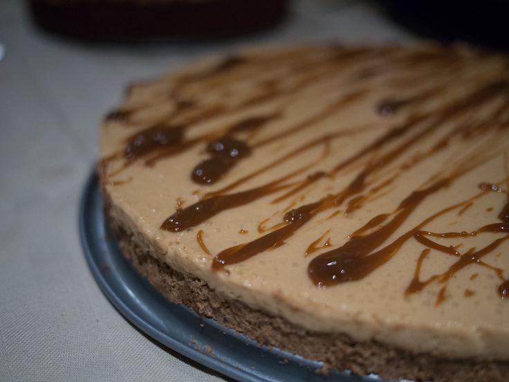Dulce de leche-cheesecake