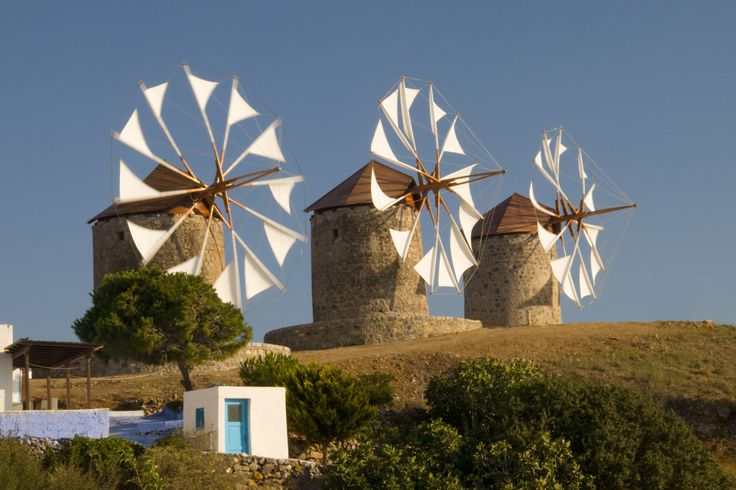 Windmills in Patmos - They were working on them when I was there but just before we left, they were functioning again...BEAUTIFUL!