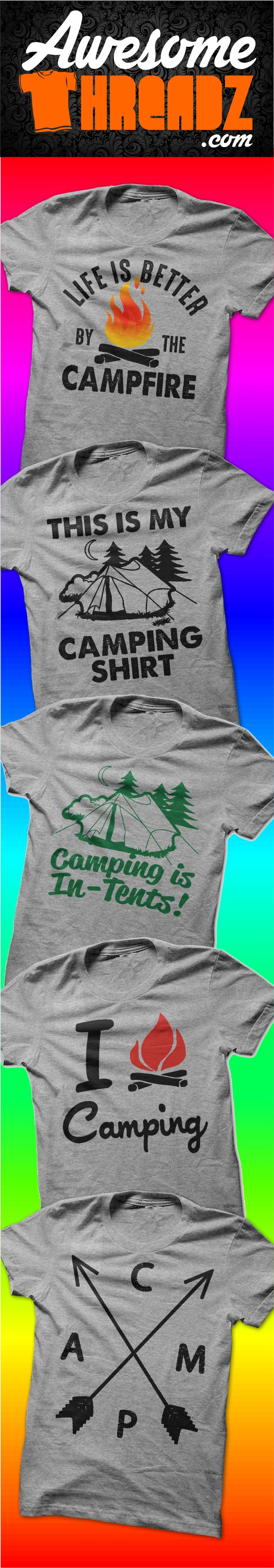 Camping T-Shirts From Awesome Threadz
