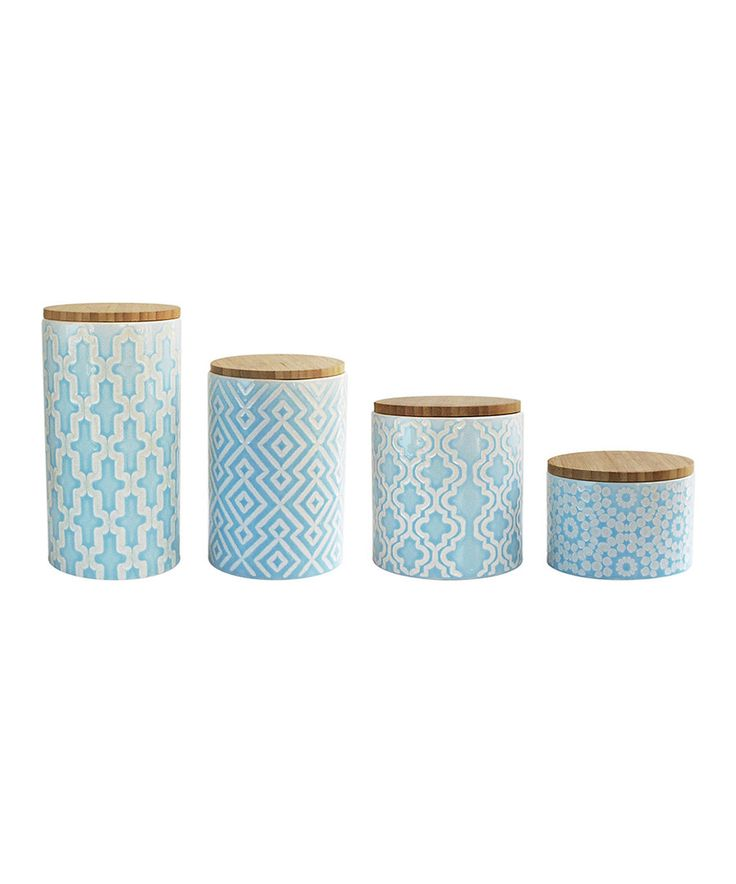Look at this Arabesque Blue Canister Set on #zulily today!